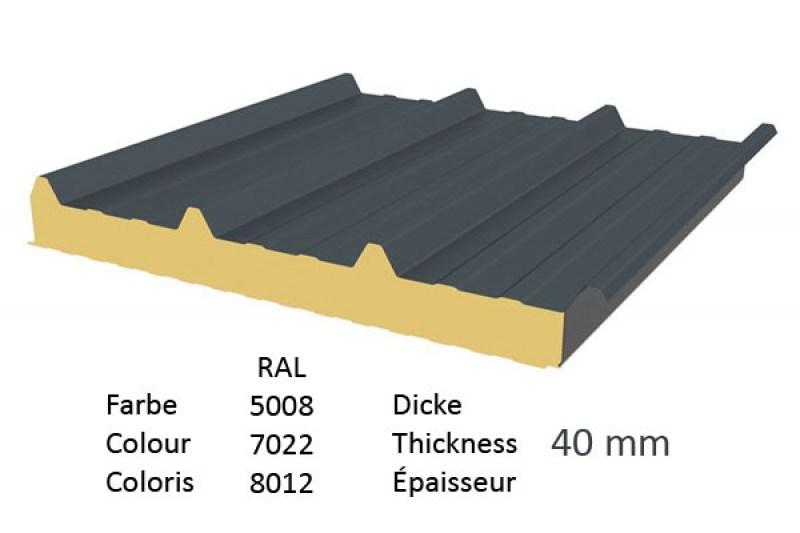 Super Sonderangebot: Sandwichpaneele Dach | 40 mm Dämmkern | 2. Wahl @MU_98